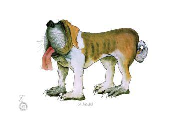 Fun Dog Art Print - St Bernard
